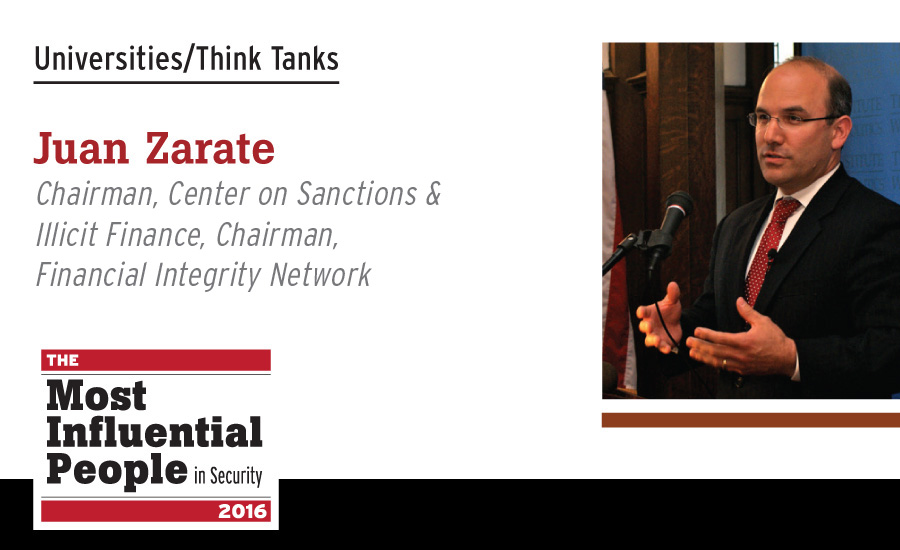 Juan Zarate, Chairman, Center on Sanctions & Illicit Finance; Chairman, Financial Integrity Network