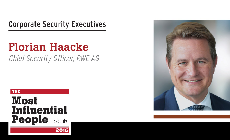 Florian Haacke, Chief Security Officer, RWE AG