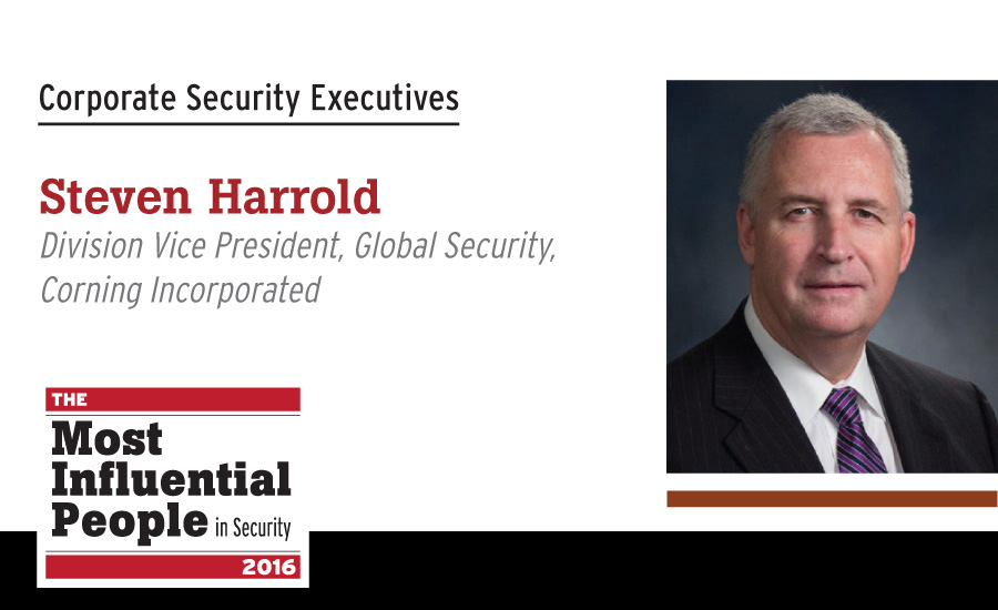 Steven Harrold Division, Vice President, Global Security, Corning Incorporated
