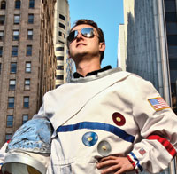 Astronaut in the city