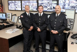 Three security officers