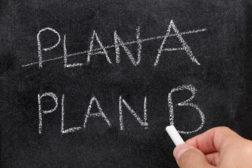 Plan B on chalkboard