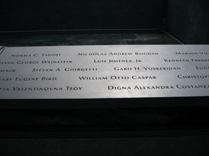 Names of Victims of 9/11