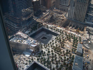 Aerial view of new World Trade Center