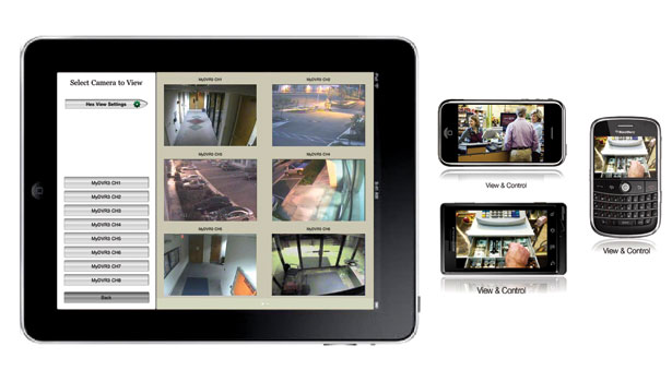 Wireless devices with security camera views
