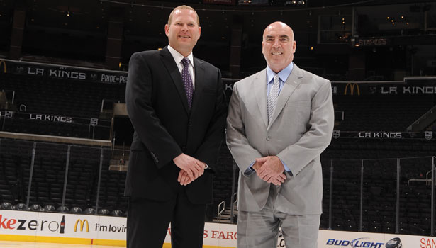 Lee Zeidman (right), CEO of AEG, which operates STAPLES Center, and David Born (left), Director of Security for STAPLES Center