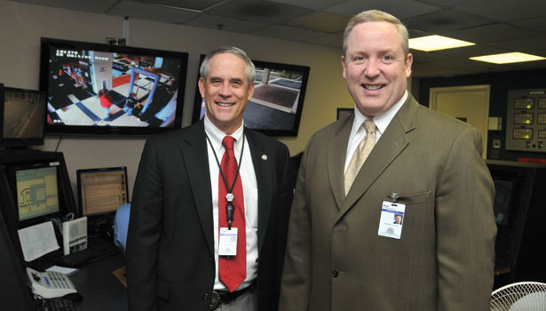 Mike Riordan (right), CEO of Greenville (South Carolina) Hospital System, about Shawn Reilly (left), his director of security and chief of police.