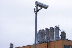 Video camera on a pedestal