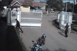 Security camera view of street