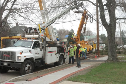 Utility workers during Superstorm Sandy