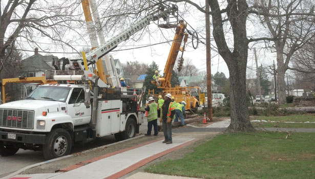 Utility workers after Superstorm Sandy