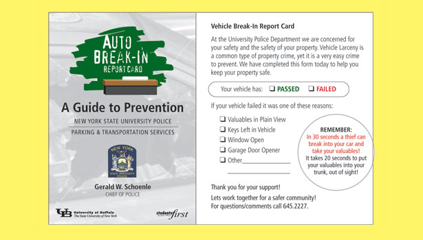Vehicle break-in report card