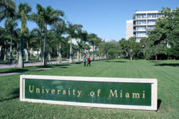 University of Miami sign