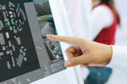 Person using touchscreen