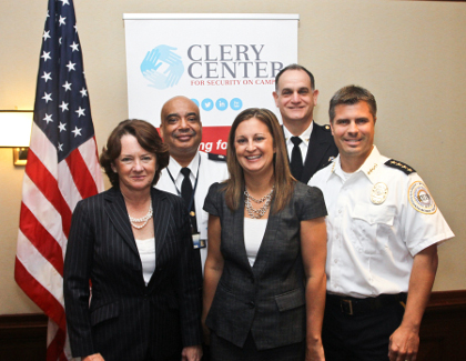 Mary Lou Leary with Clery Center Sponsors in DC