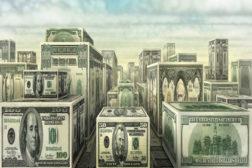 Blocks made of money