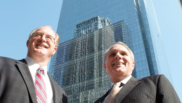 Mark Farrell, CSO of Comcast (left), and Jim Birch, Director of Security and Life Safety for the Comcast Building, Liberty Property Trust