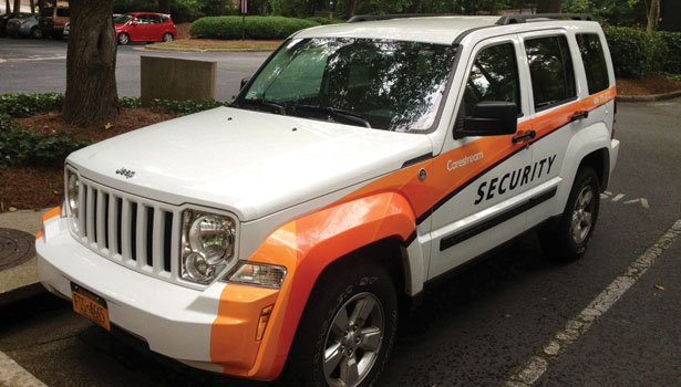 security vehicles at Carestream