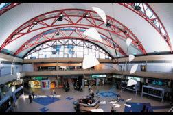 Atrium of building