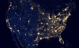 USA network of light