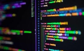 Data breach, code on computer screen