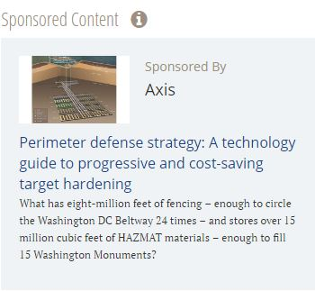 Perimeter defense strategy: A technology guide to progressive and cost-saving target hardening