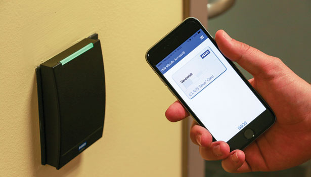 Vanderbilt University gives security access control to students' smartphones