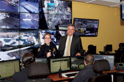 Through the Operation Shield Video Integration Center (VIC), Atlanta Police Department officers are able to use software to monitor video feeds from both public and private sector cameras.