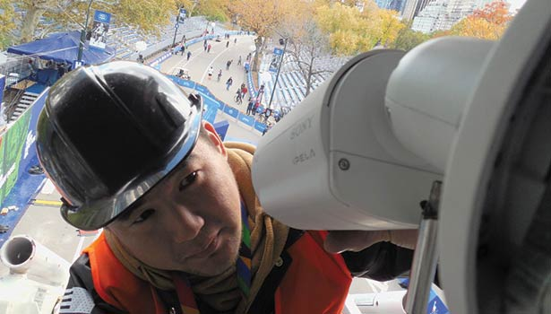 Quick and simple installation is at the heart of wireless cameras including use at the New York Marathon.