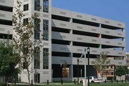 The Rowan Boulevard Parking Garage in Glassboro, New Jersey, is owned and operated by Nexus Parking Systems.