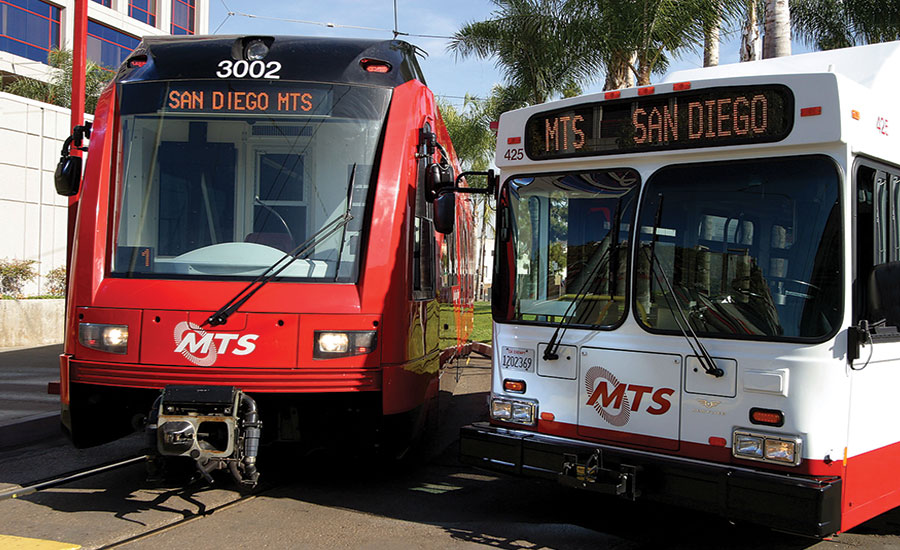There is a combination of security technology and law enforcement partnerships with the San Diego Metropolitan Transit System. Photo courtesy San Diego MTS