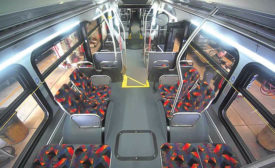 Cameras on buses and light rail deter crime and lessen liability. Photo courtesy Denver RTD