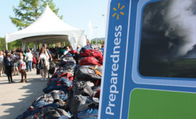 Wal-Mart associates created 2,000 emergency preparedness backpacks, which will be distributed to families in need after disasters.
