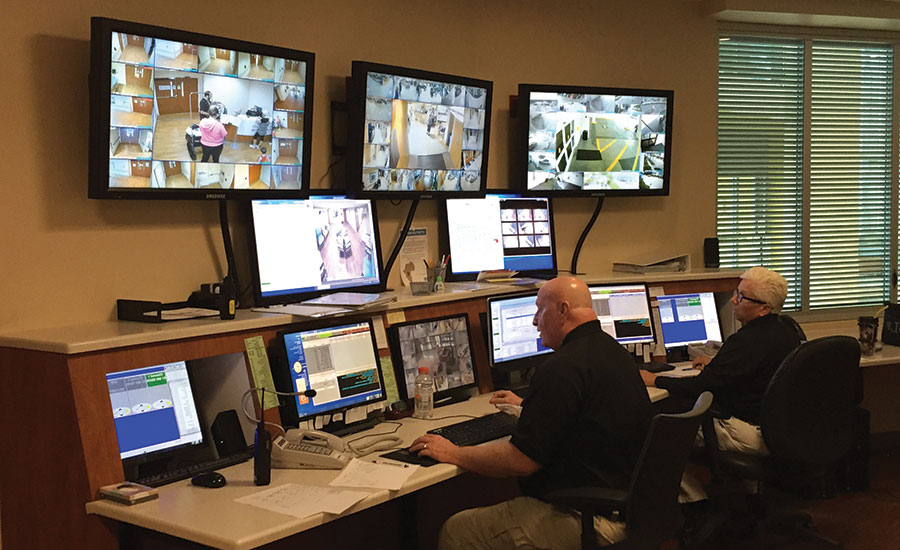 The security command center at Sarasota (Florida) Memorial Healthcare System