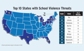 Map of School Violence Threats