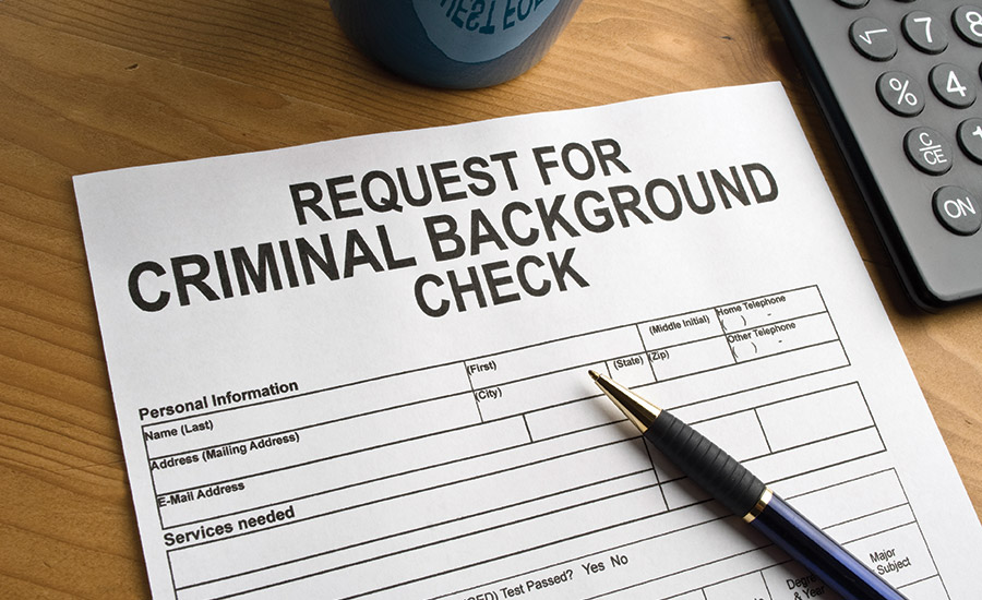 Request for criminal background check