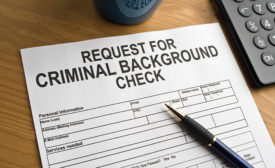 Request for criminal background check; reference checking, security interviews