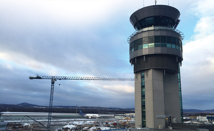 Quebec-City-Airport--Parking-Deck-and-Air-Traffic-Control-Tower