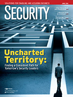 Security June 2016 cover: Uncharted Territory: Finding a Consistent Path for Tomorrow's Security Leaders