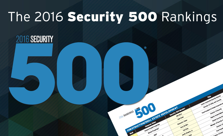 The 2016 Security 500 Rankings | 2016-11-01 | Security Magazine