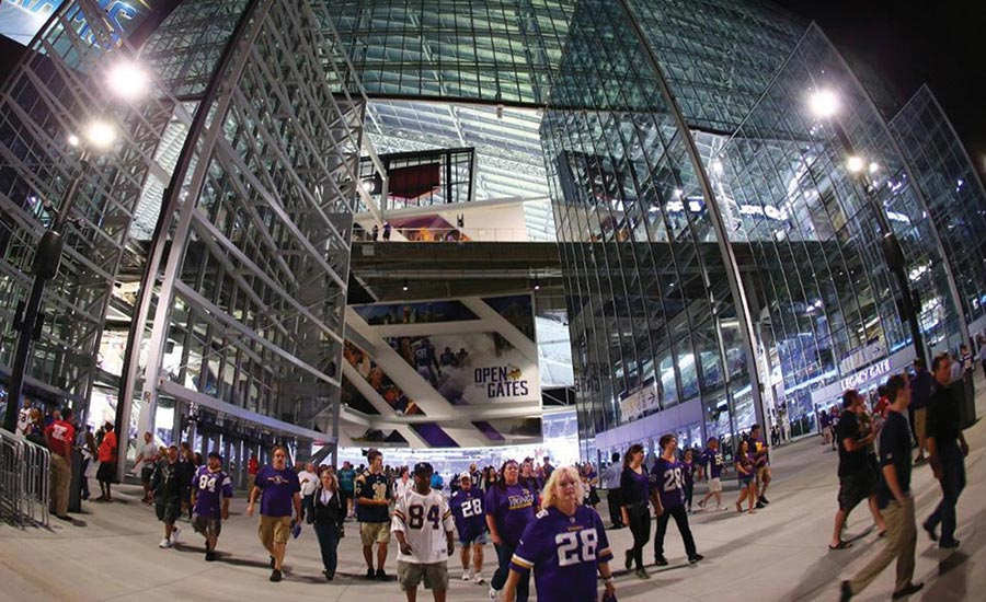 U.S. Bank Stadium provides several unique features compared to all other NFL stadiums