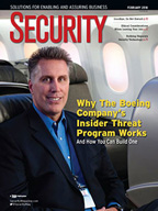 Cover - Security Magazine - February, 2018