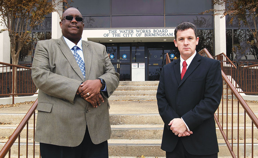 Terrell Jones (left), Security Superintendent, Birmingham Water Works; Scott Starkey, EIT, JD,CPP, PSP, Birmingham Water Works. Security Magazine.