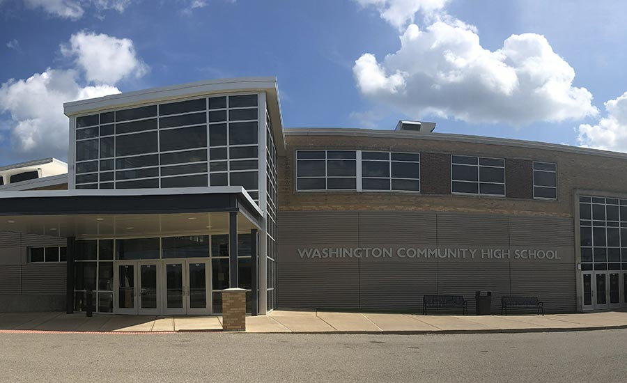 Washington Community High School, Exterior