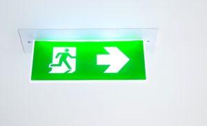 Emergency fire exit freepik