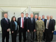 The OSAC private-public sector delegation visits with U.S. military officials in Kabul, Afghanistan.