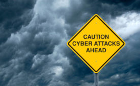 Cyber Attacks Ahead Sign