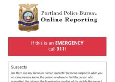 Portland Police online reporting