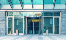 security entrance, revolving door, mantrap,