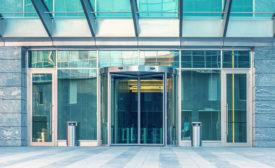 security entrance, revolving door, mantrap,